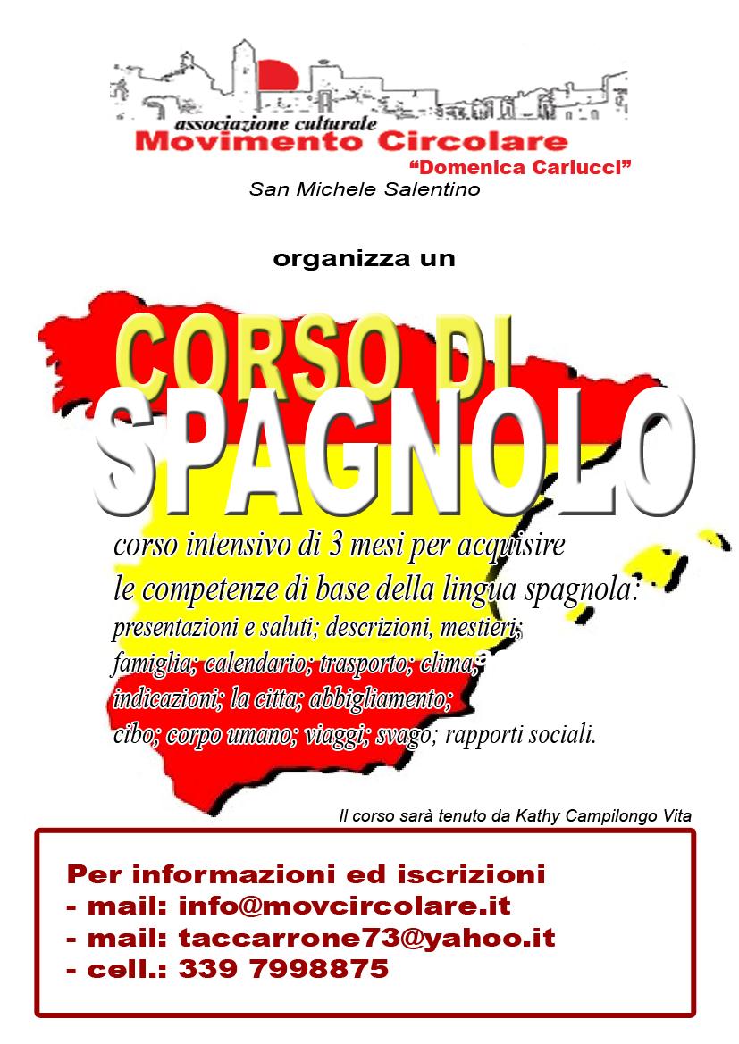 Calendario Spagnolo.Corso Di Spagnolo Organizzato Dall Ass Movimento Circolare
