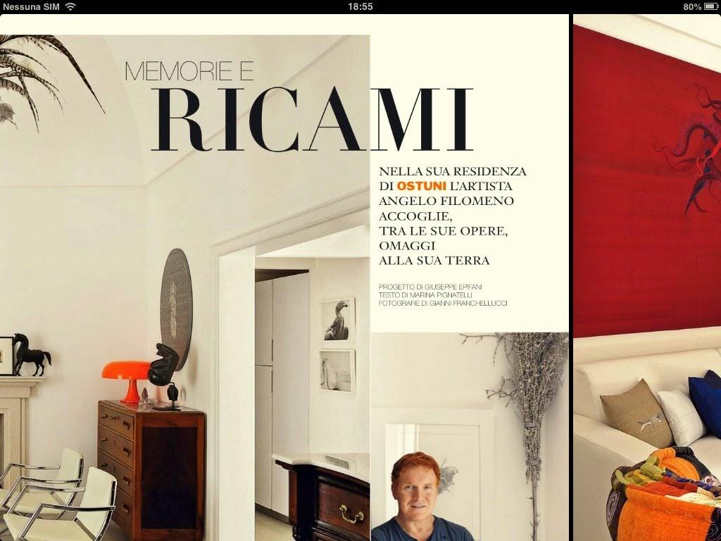 Ad Architectural Digest Angelo Filomeno La Casa E L